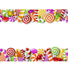 Frame made of colorful candies vector image