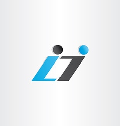 letter l and i symbol design vector image
