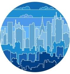 Print urban landscape vector image