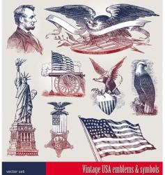 Set of american symbols vector