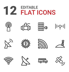 12 station icons vector