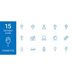 15 cosmetics icons vector