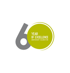 60 year excellence anniversary celebration vector
