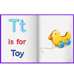 A picture of toy in book vector