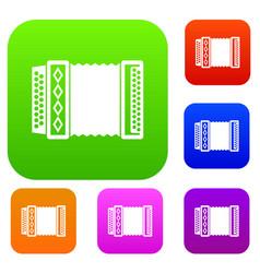 accordion set collection vector image
