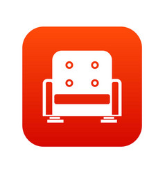 Armchair icon digital red vector