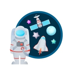 Astronaut and Space Set vector image