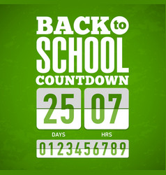 back to school countdown vector image