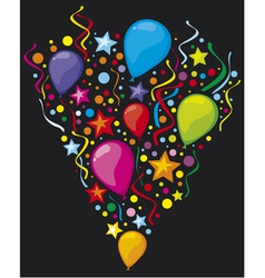 balloons party balloons vector image
