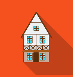 bavarian house icon in flat style isolated on vector image