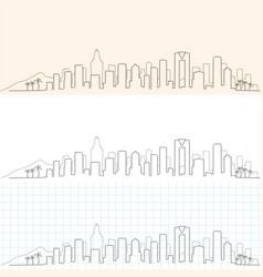 benidorm hand drawn profile skyline vector image