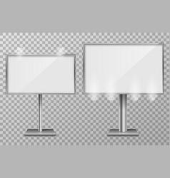 billboard template design for outdoor advertising vector image
