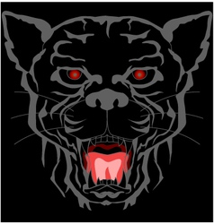 Black panther head tattoo tribal vector