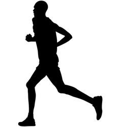 Black silhouette kenyan runner vector