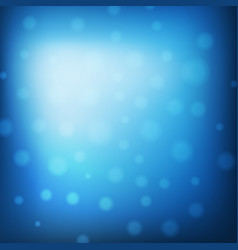 blue christmas background with lights abstract vector image