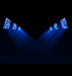 Blue stage lights background vector