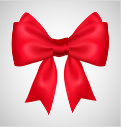 bow ribbon present red gift vector image