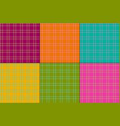 bright colors plaids vector image