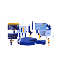 budget data people business analysis person vector image