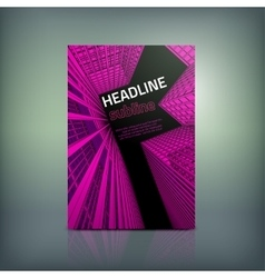 Business Brochure Cover vector image