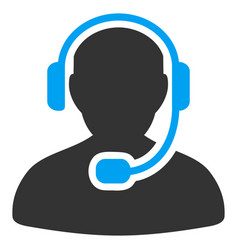 Call center worker flat icon vector
