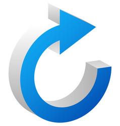 Circular arrow for cycle loop sync or rotation vector
