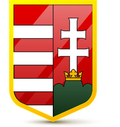 coat arms hungary vector image