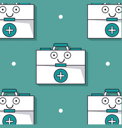 colorful background with pattern of first aid kit vector image