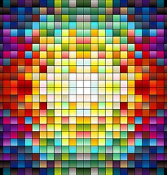Colorful pixels 4 vector image