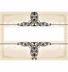 decorative antique frame vector image