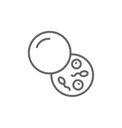 Donor sperm line icon vector image