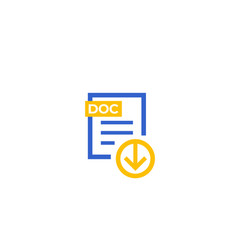 Download doc document file icon vector