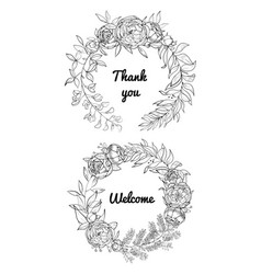 festive wedding wreaths vector image