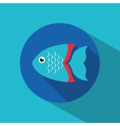 Fish figure design vector image vector image