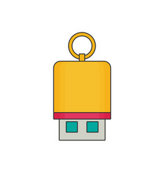 Flash drive flat vector