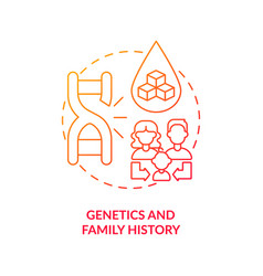 Genetics and family history concept icon vector