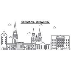 germany schwerin architecture line skyline vector image