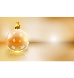 golden christmas background with copy space vector image