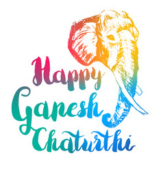 Happy ganesh chaturthi vector