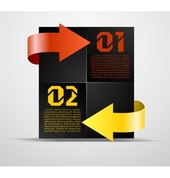 Information block with pointers vector image