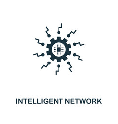 intelligent network icon premium style design vector image