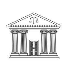 isolated object of law and lawyer logo collection vector image