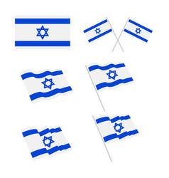 israel flag design vector image