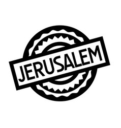 Jerusalem typographic stamp vector