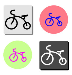 kids tricycle flat icon vector image