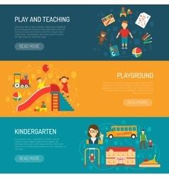 Kindergarten Horizonta Banners vector image