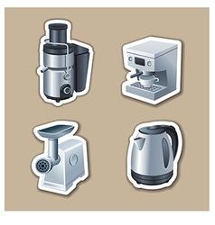 Kitchenware stickers vector