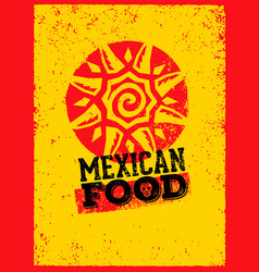 Mexican food logo design template vector
