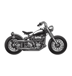 Monochrome of classic motorcycle vector