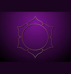 Mystic lotus gold frame logo icon golden mandala vector
